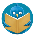 blue bird in circle