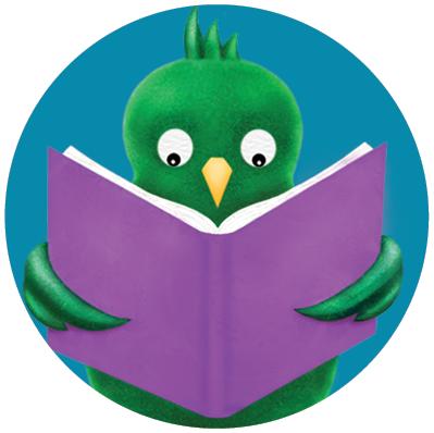 green bird in circle