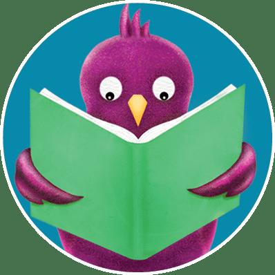 Purple bird in circle
